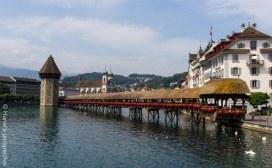 Lucerne. the famous wooden bridge