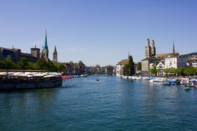 Zürich, at the Limmat