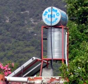 Solar Energy warm water tank, Turkish Riviera