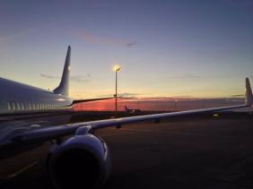 Beautiful sunset, 28 C at Casablance