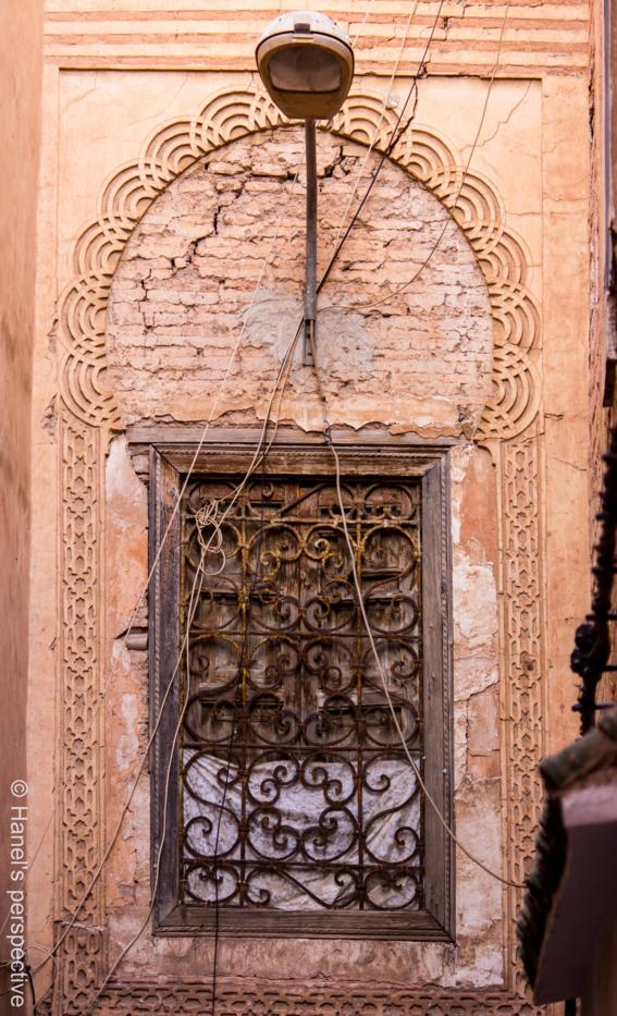 An old window in the Medina of Marrakech