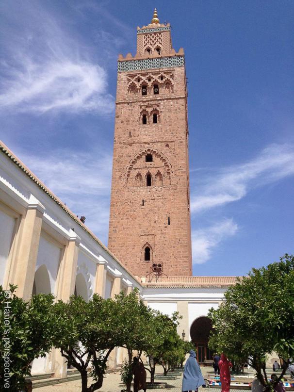 Koutoubia mosque with minaret