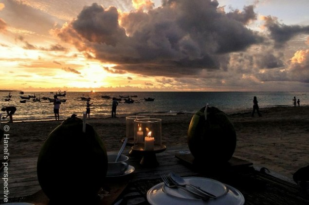 Sunset dinner at Jimabaran Beach