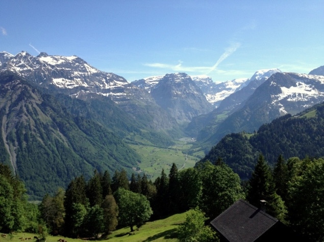 Panorama View of Glarus