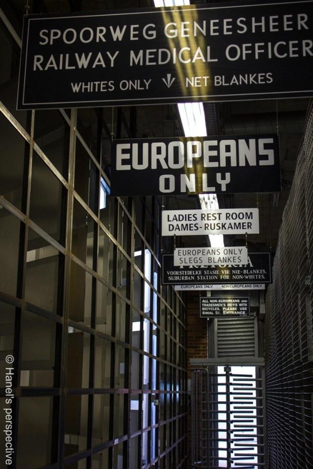 Apartheid Museum Entrance for whites