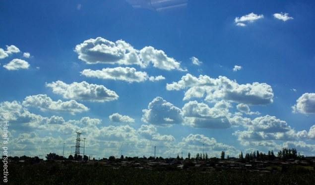 a typical African sky over Soweto