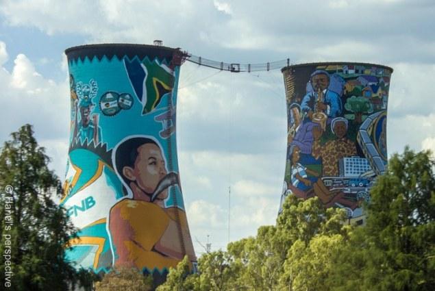 Driving through  Soweto, Jo'burg