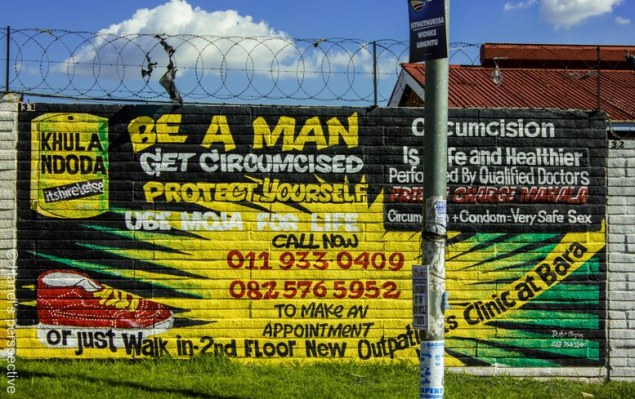 Seen infront of hospital, Soweto, Johannesburg