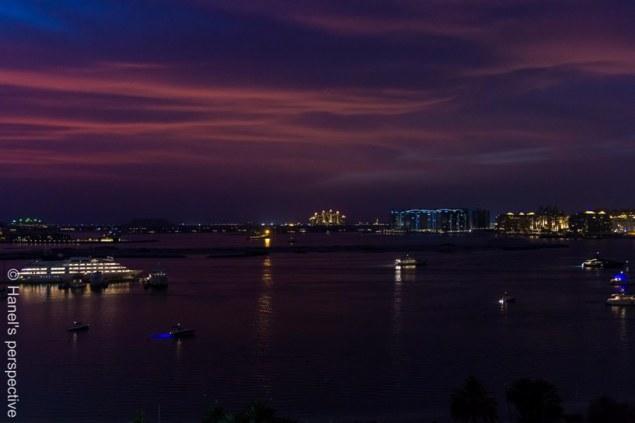 Sunste over Dubai Palm Beach