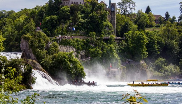 Rhinefalls at Neuhausen, Europe's largest water falls
