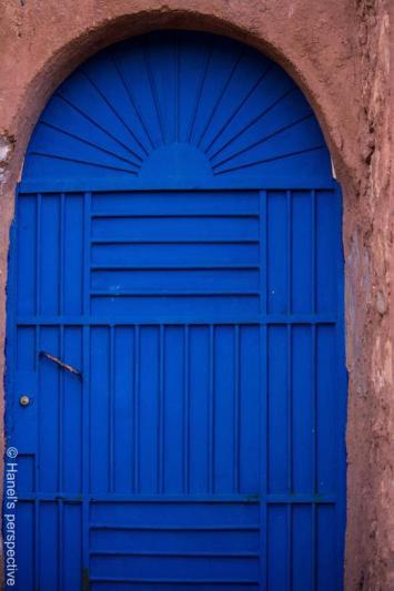 Blue of this door, of Morocco