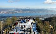 View on lake of Zurich from top of Uetliberg