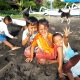 Kids at the beach in Amed, Bali