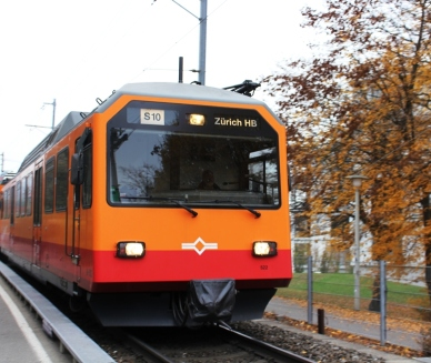 by train Swiss railway network