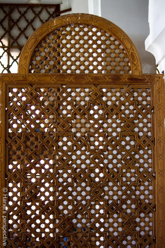 Inside a Koutoubia mosque mosque: geometrical design