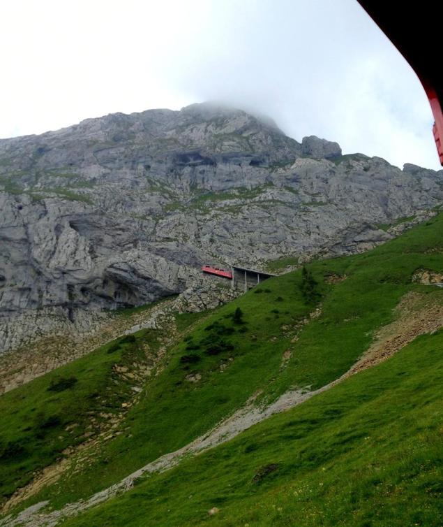 World's steepest cogwheel train to the  Pilatus