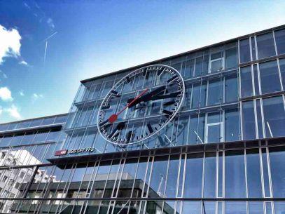 Aarau Railway station clock