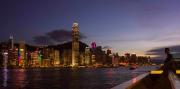 Hong Kong Skyline at blue hour