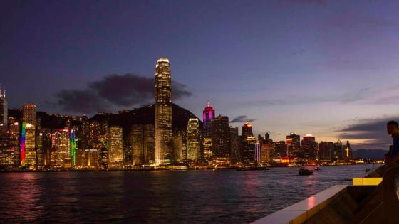 Hong Kong Skyline at blue hour