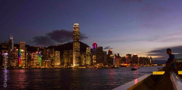 Hong Kong Skyline at the blue hour- experiment 1