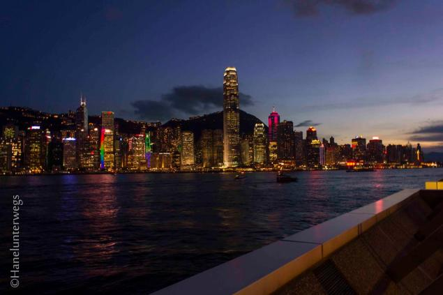 Hong Kong Skyline at the blue hour