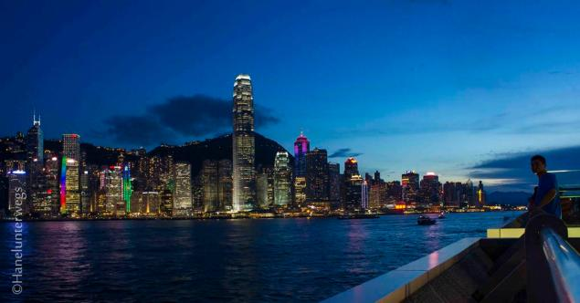 Hong Kong Skyline at the blue hour- experiment 2- more blue hue