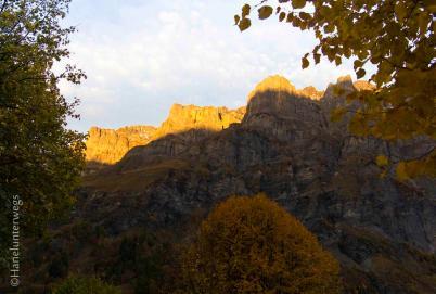 Gemmi at Dawn. Valais, Leukerbad